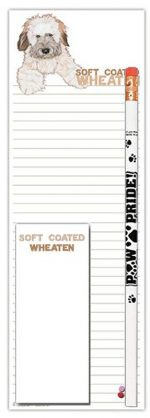 Soft Coated Wheaten Dog Notepads To Do List Pad Pencil Gift Set