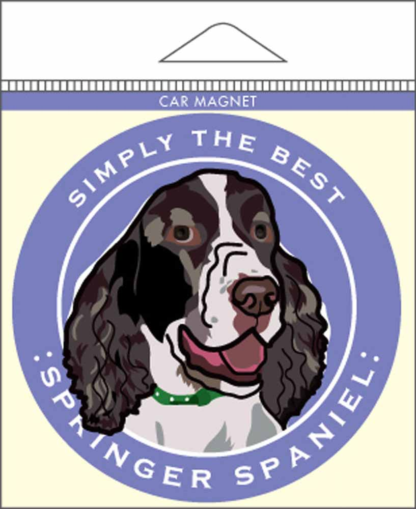 Springer Spaniel Car Magnet 4x4""