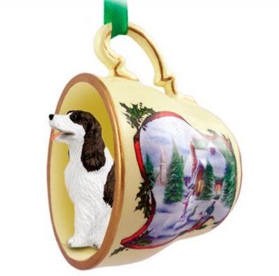Springer Spaniel Ornament Teacup Liver