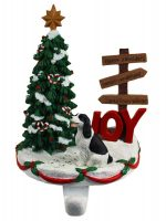 Springer Spaniel Stocking Holder Hanger Black