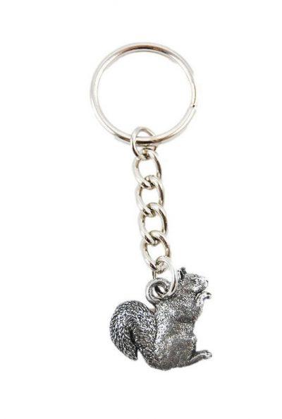 Squirrel Keychain Pewter