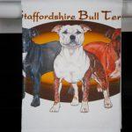 Staffordshire Bull Terrier Kitchen Hand Towel 2