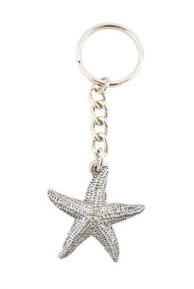 Starfish Keychain Pewter