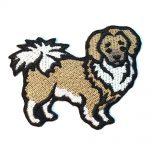 Tibetan Spaniel Iron on Embroidered Patch