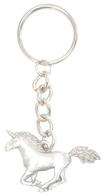 Unicorn Pewter Keychain