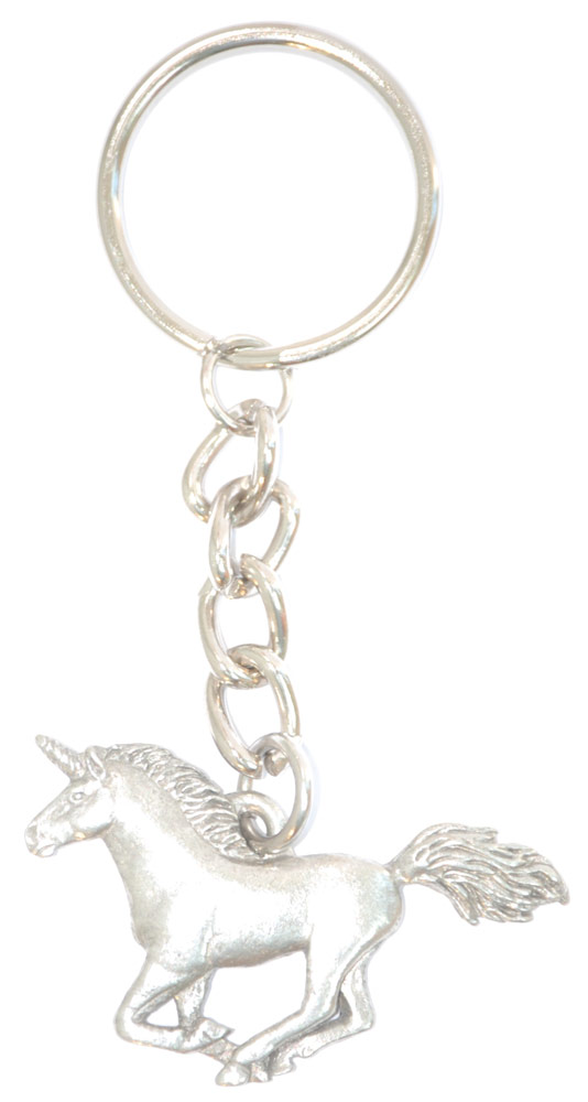 Unicorn Pewter Keychain