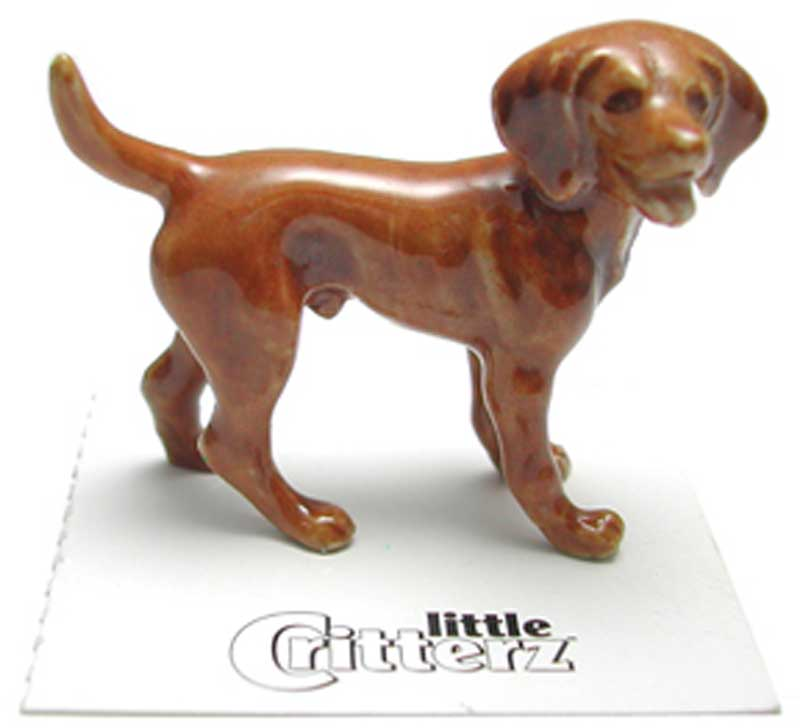 Vizsla Hand Painted Porcelain Miniature Figurine
