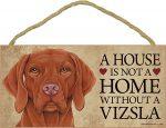 Vizsla Wood Dog Sign Wall Plaque 5 x 10 + Bonus Coaster