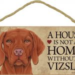 Vizsla Wood Dog Sign Wall Plaque 5 x 10 + Bonus Coaster 1