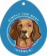 "Vizsla Sticker 4x4"""