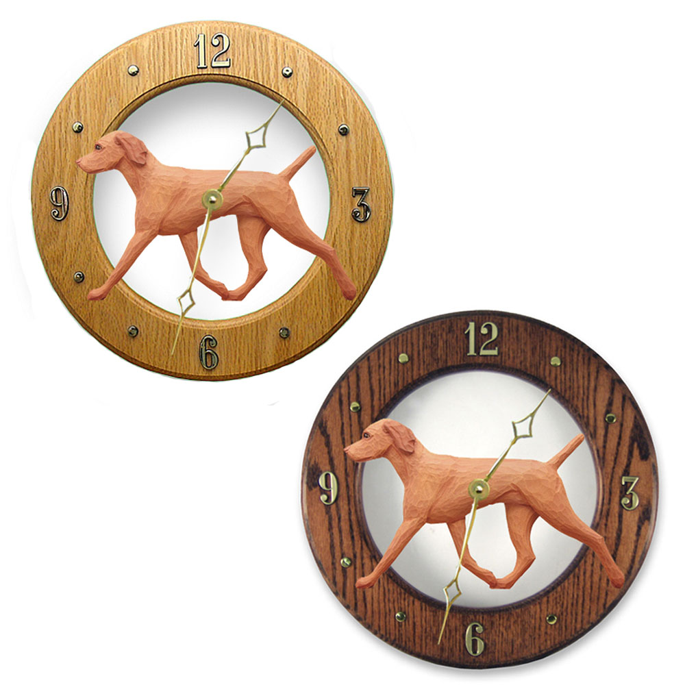 Vizsla Wood Clock