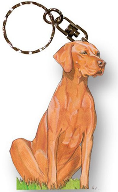 Vizsla Wooden Dog Breed Keychain Key Ring 1