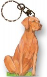 Vizsla Wooden Dog Breed Keychain Key Ring