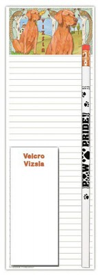 Vizsla Dog Notepads To Do List Pad Pencil Gift Set 1