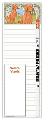 Vizsla Dog Notepads To Do List Pad Pencil Gift Set