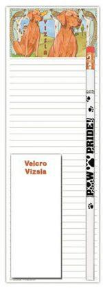 Vizsla Dog Notepads To Do List Pad Pencil Gift Set
