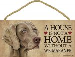 Weimaraner Wood Dog Sign Wall Wall Plaque Photo Display 5 x 10 + Bonus Coaster