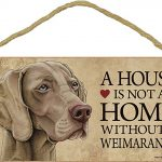 Weimaraner Wood Dog Sign Wall Wall Plaque Photo Display 5 x 10 + Bonus Coaster 1