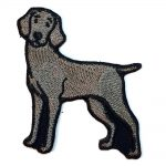 Weimaraner Iron on Embroidered Patch