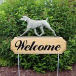 Weimaraner Outdoor Welcome Garden Sign