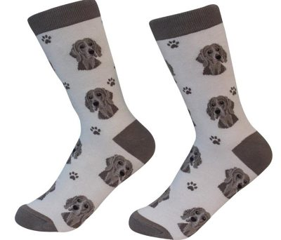 Weimaraner Face Pattern Socks