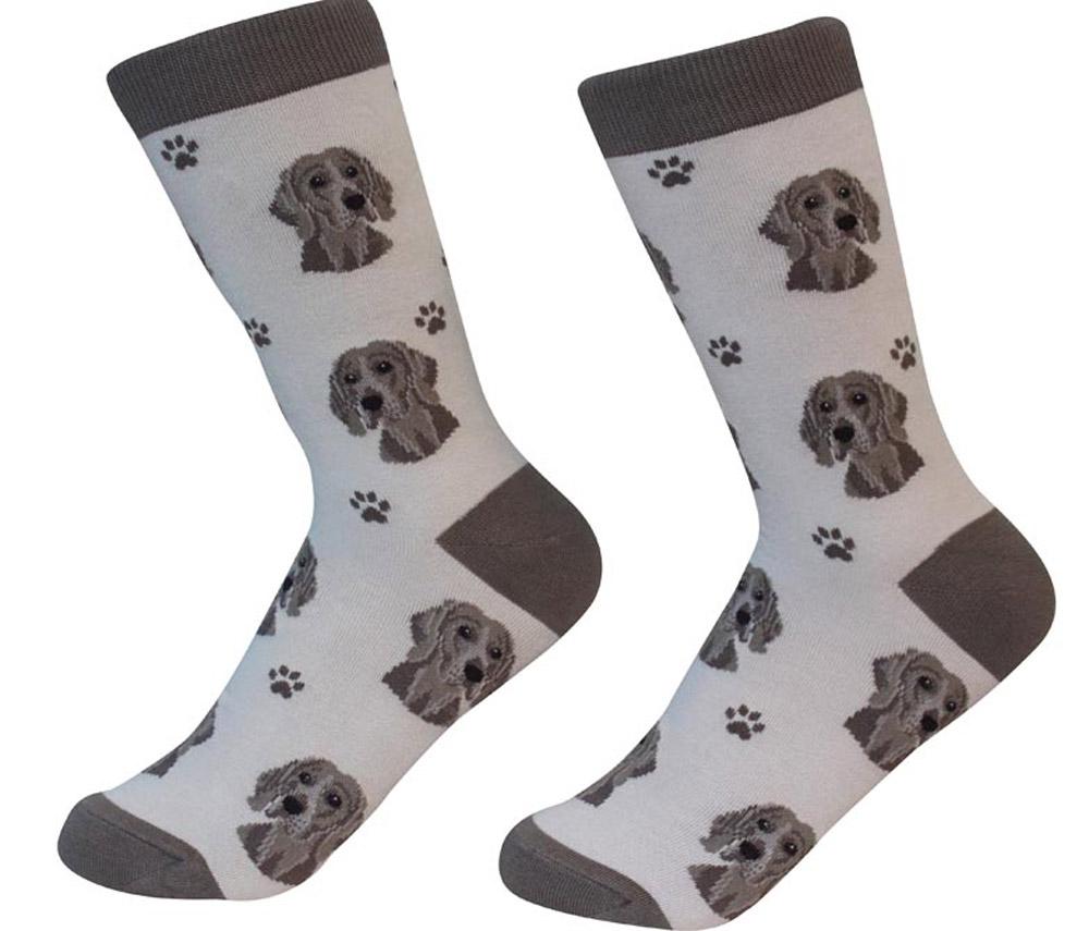 Weimaraner Face Pattern Socks