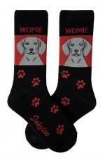 Weimaraner Socks - Red & Black in Color