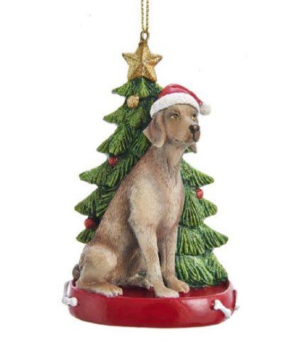 Weimaraner Tree Ornament
