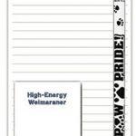 Weimaraner Dog Notepads To Do List Pad Pencil Gift Set 1