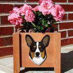Welsh Corgi Pembroke Planter Flower Pot Tri 1