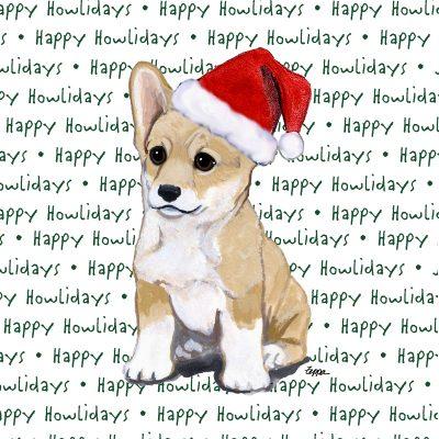 Corgi Pembroke Dog Coasters Christmas Themed Puppy