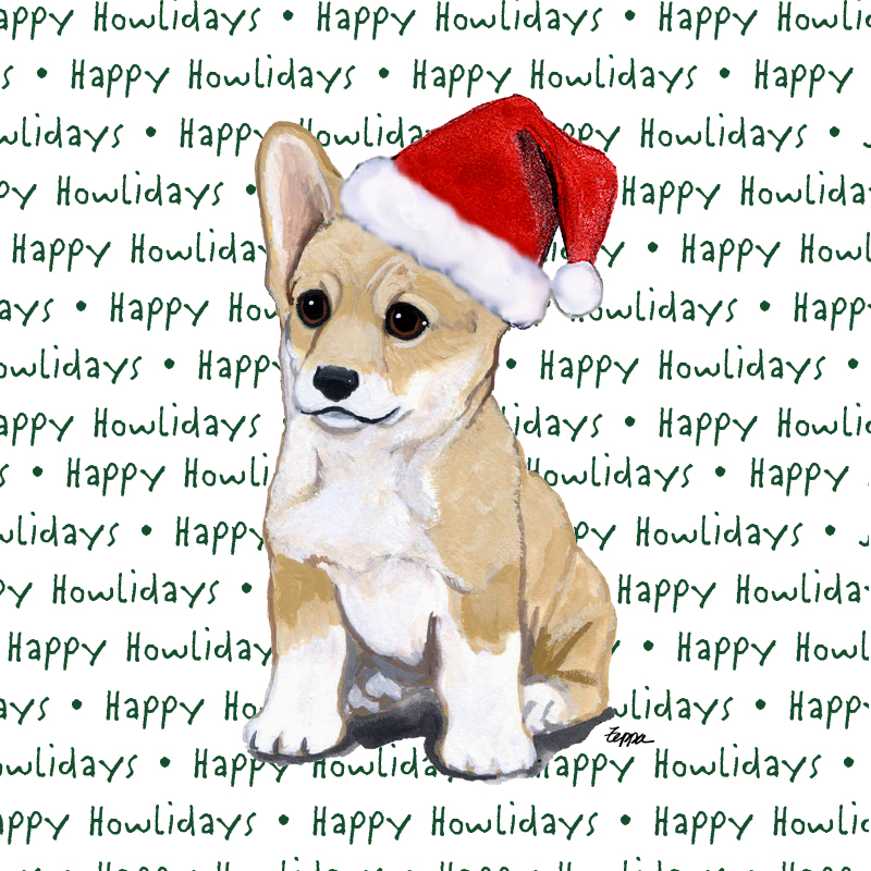 Corgi Pembroke Dog Coasters Christmas Themed Puppy