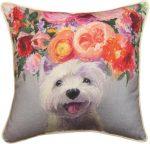 Westie Bloom Pillow