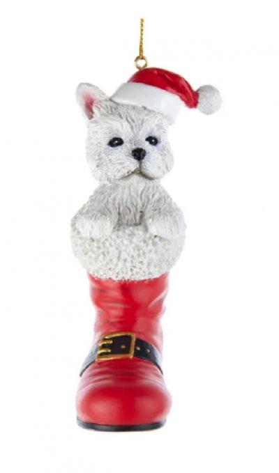 Westie Boot Ornament