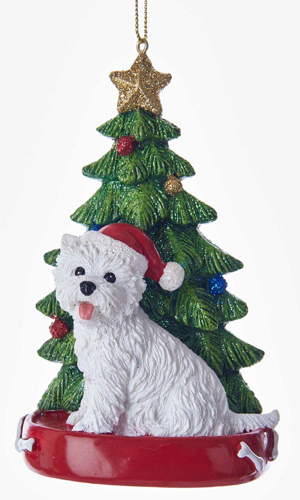 - Westie Christmas Tree Ornament -