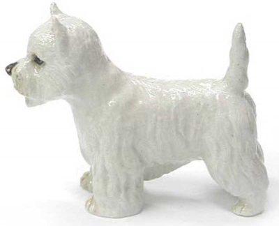 Westie Hand Painted Porcelain Figurine 1