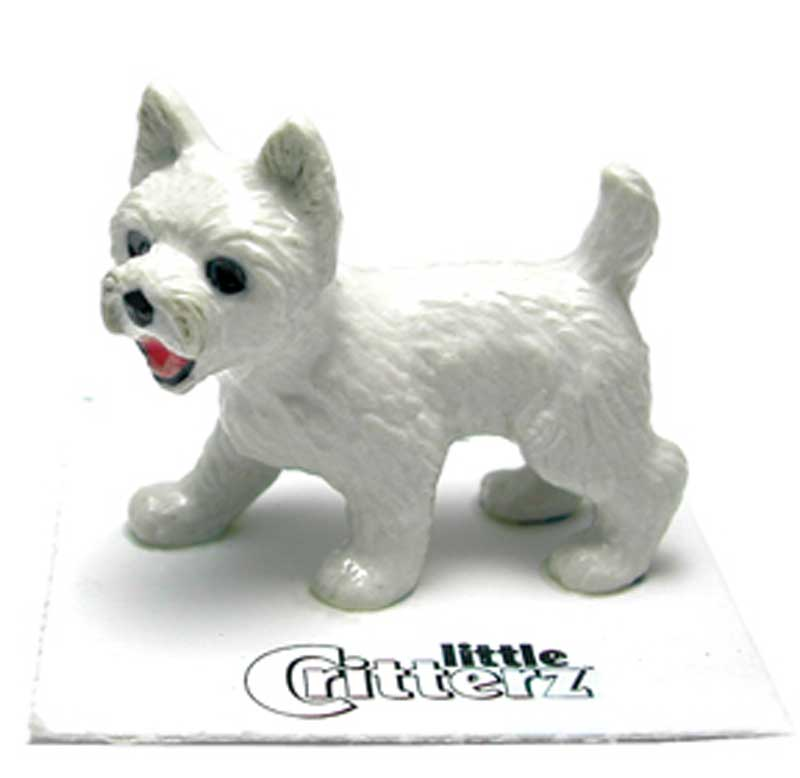 Westie Hand Painted Porcelain Miniature Figurine