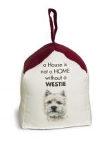 Westie Door Stopper 5 X 6 In. 2 lbs. - A House is Not a Home