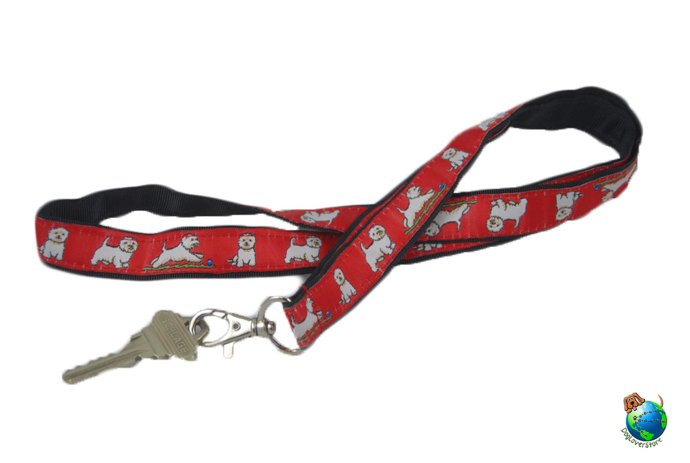 Westie Lanyard Key Holder Badge Holder