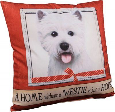 Westie Pillow 16×16 Polyester 1
