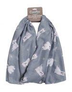 Westie Scarf -Lightweight Cotton Polyester