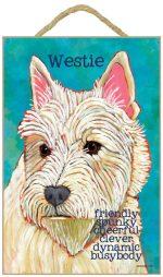 Westie Characteristics Dog Sign