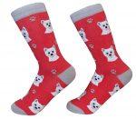 Westie Face Pattern Socks