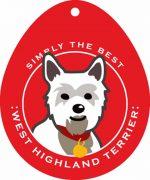 """West Highland Terrier Westie Sticker 4x4"""""""