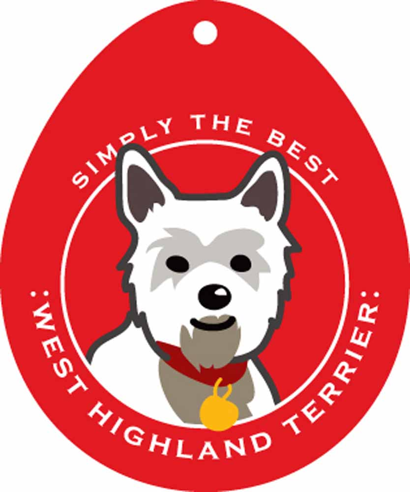 West Highland Terrier Westie Sticker 4x4""