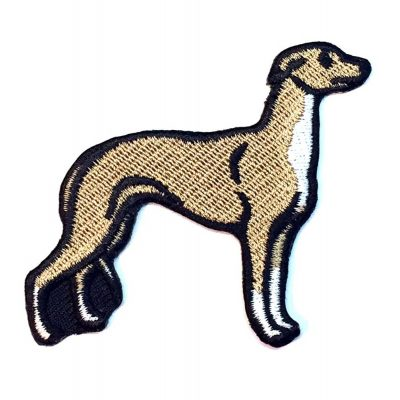 Whippet Iron on Embroidered Patch