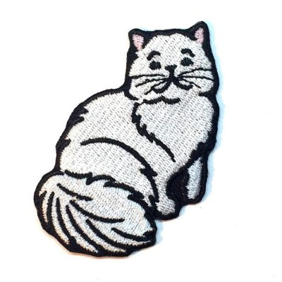 white-cat-patch