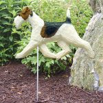 Wire Fox Terrier Garden Stake Outdoor Sign