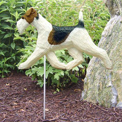 Wire Fox Terrier Garden Stake Outdoor Sign