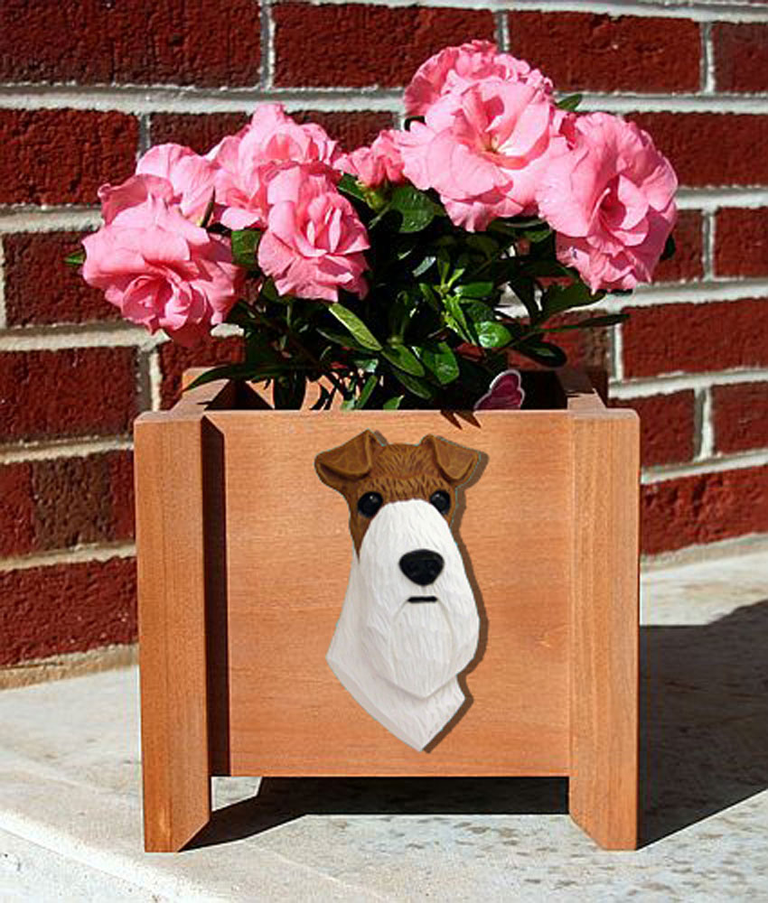 wire-fox-terrier-planter